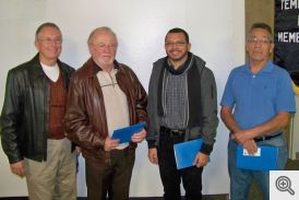Pictured (l-r) Jim Arnold, Gary Ruebush, Nelson Rubio, and Pedro Bonilla Sr.