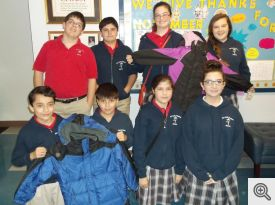 Our Lady of Fatima Students Displaying Coats